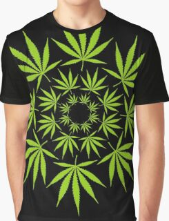 Cannabis Leaf Circle Graphic T-Shirt