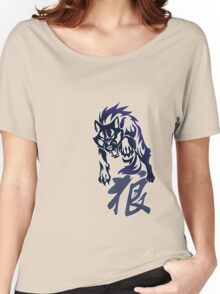 Wolf tribal tattoo Women's Relaxed Fit T-Shirt