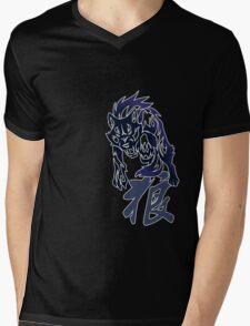 Wolf tribal tattoo Mens V-Neck T-Shirt