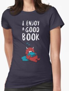 I Enjoy a Good Book Womens Fitted T-Shirt