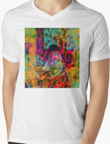 Lost in the Jungle Mens V-Neck T-Shirt