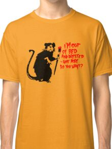 Banksy - Out of Bed Rat Classic T-Shirt