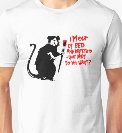 Banksy - Out of Bed Rat Unisex T-Shirt