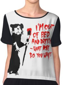 Banksy - Out of Bed Rat Chiffon Top