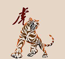 Tiger tribal tattoo Unisex T-Shirt