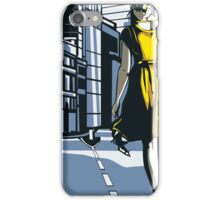 Girl walking on a London street iPhone Case/Skin