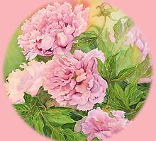 Pink peony by Carol McLean-Carr