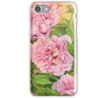 Pink peony iPhone Case/Skin