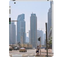 Photography of street with tall buildings from Dubai, United Arab Emirates. iPad Case/Skin