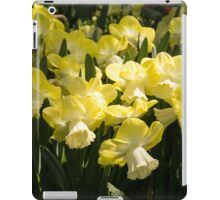 Sunny Daffodil Garden - Enjoying the Beauty of Spring iPad Case/Skin