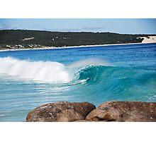 Deep Blue Curl Photographic Print