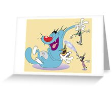 Character oggy Greeting Card