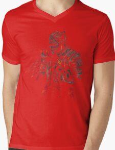 Red Knight Mens V-Neck T-Shirt