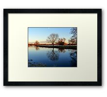 End Of A Wintery Day .. Framed Print
