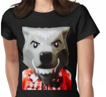 Lego Wolf Guy minifigure Womens Fitted T-Shirt