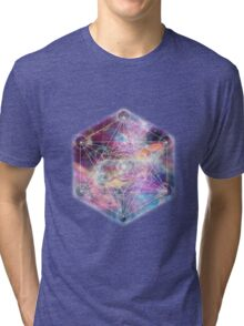 Watercolor and nebula sacred geometry  Tri-blend T-Shirt