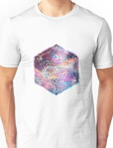 Watercolor and nebula sacred geometry  Unisex T-Shirt