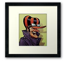 Dick Dastardly Laugh Framed Print