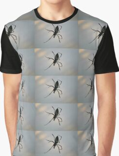 Spider eating print Graphic T-Shirt