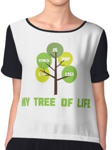 Programming tree of life Chiffon Top