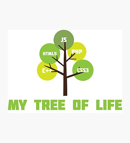 Programming tree of life Photographic Print