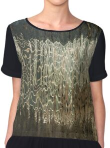 Silk, Moire and Satin Abstracts Chiffon Top