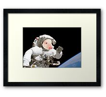 Space pig Framed Print