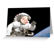 Space pig Greeting Card