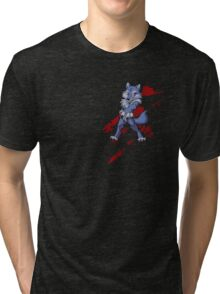 Cute anthro blue wolf Tri-blend T-Shirt