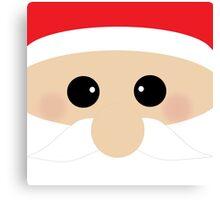 Cute Santa Clause Closeup Canvas Print