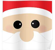 Cute Santa Clause Closeup Poster