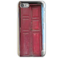 Red Door in a Painted Wall iPhone Case/Skin