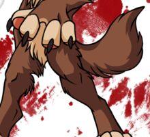 Cute anthro brown wolf Sticker