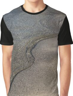 Lakeshore Tranquility - the Slowly Curling Wave Graphic T-Shirt