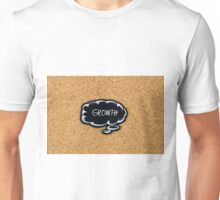 GROWTH written on black thinking bubble Unisex T-Shirt