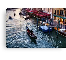Impressions Of Venice - a Classic Grand Canal Evening Canvas Print