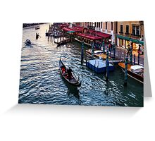 Impressions Of Venice - a Classic Grand Canal Evening Greeting Card