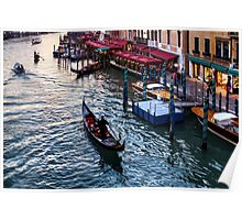 Impressions Of Venice - a Classic Grand Canal Evening Poster