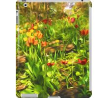 Impressions of Gardens - the Untamed Tulip Forest in Spring iPad Case/Skin