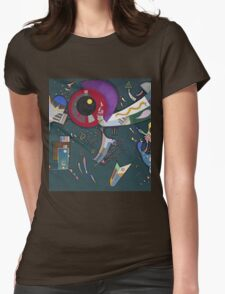 Kandinsky - Around The Circle Womens Fitted T-Shirt