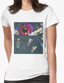 Kandinsky - Around The Circle Womens Fitted T-Shirt
