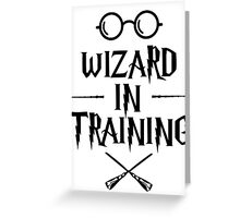 Wizard in training HP Greeting Card