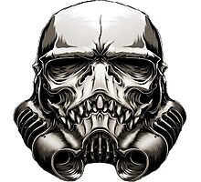 Skeleton Stormtrooper Helm Photographic Print