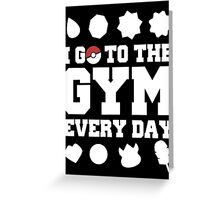 Pokemon gym Greeting Card