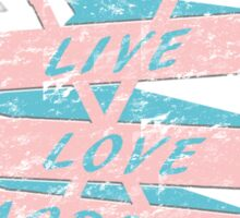 Live Love Lacrosse LAX Graphic Design  Sticker