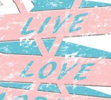 Live Love Lacrosse LAX Graphic Design  Sticker