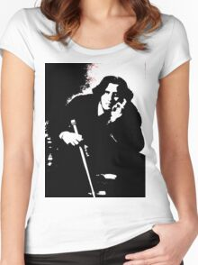 Oscar Wilde Women's Fitted Scoop T-Shirt