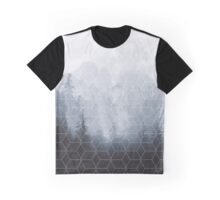 Geometric Forest Pattern Graphic T-Shirt