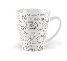 Coffee outline seamless pattern Tall Mug