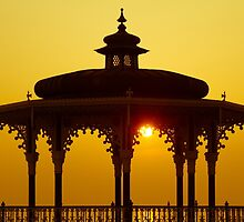 Bandstand at sunset by Andrew O'Hara